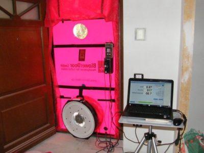 1 prova blower door test